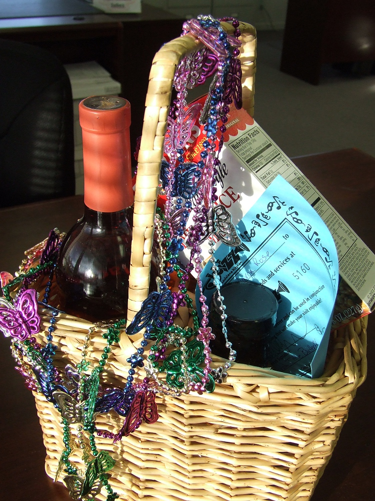 February Gift Basket - Mardi Gras theme