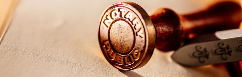 Notary public metal stamp