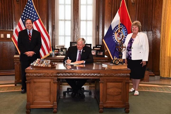 Governor Parson signing HB 1655